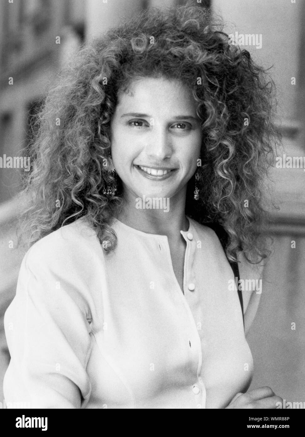 """Nancy Travis, Publicity Portrait for the Film, """"Loose Cannons"""", Tri-Star Pictures, 1990 Stock Photo"""