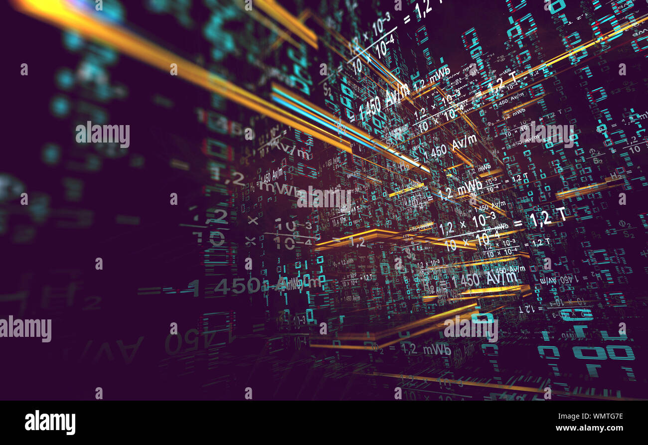 Wallpaper Of Binary Code Concept Pattern And Big Data
