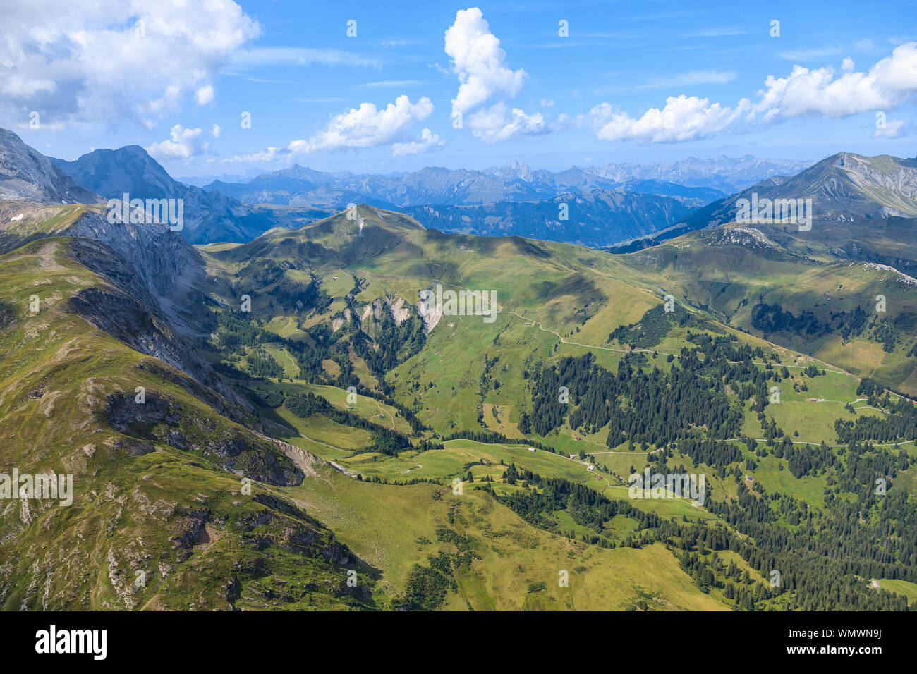 Sant Stephan, SWITZERLAND - JUNE 2017 - Tourist paradise at top of  a Mount Pilatus near Sant Stephan Stock Photo