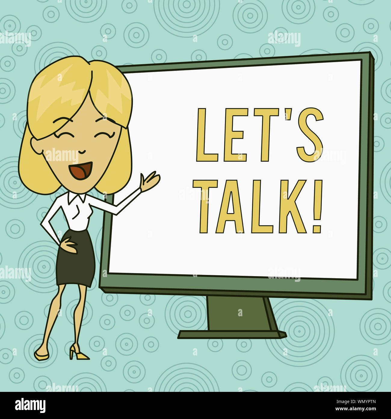 Word writing text Let S Is Talk. Business photo showcasing ...