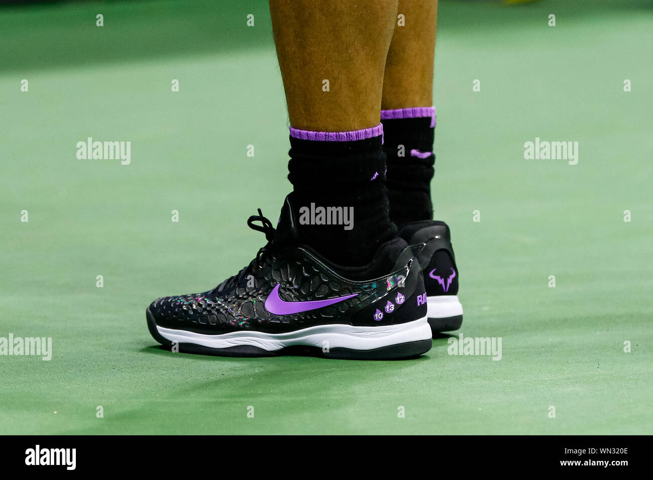 New York Usa 04th Sep 2019 Rafael Nadal S Nike Shoes During His Men S Singles Quarterfinals Match