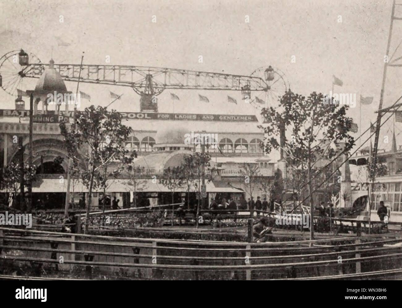 Scene in Steeplechase Park - Coney Island, New York, circa 1904 Stock Photo