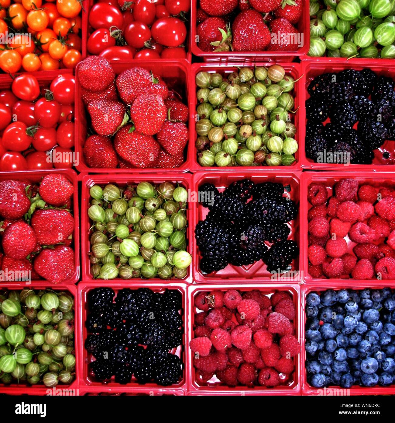 Full Frame Shot Of Various Fruits And Vegetables Stock Photo