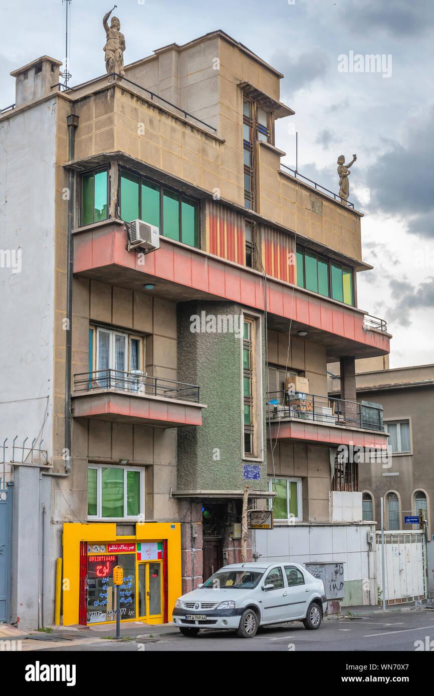 Vintage Apartment House Tehran Iran Stock Photo Alamy
