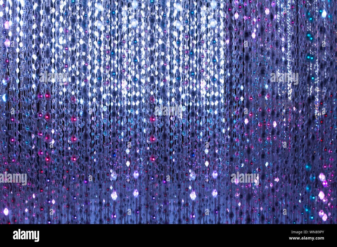 Purple Neon Lights Background Abstract Glitter Bright Light Close
