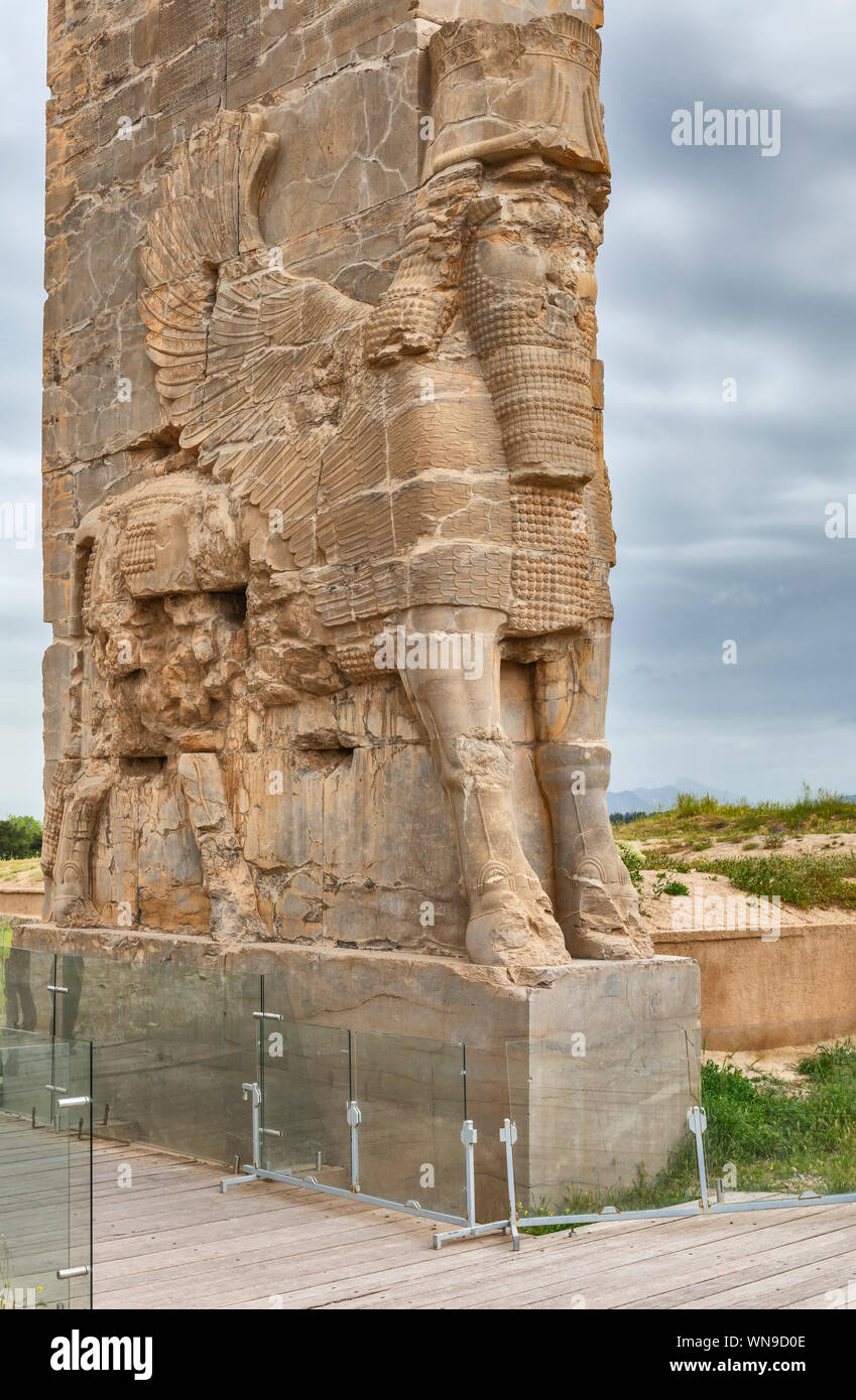 Gate Of All Nations Gate Of Xerxes Persepolis Ceremonial Capital Of Achaemenid Empire Fars Province Iran Stock Photo Alamy
