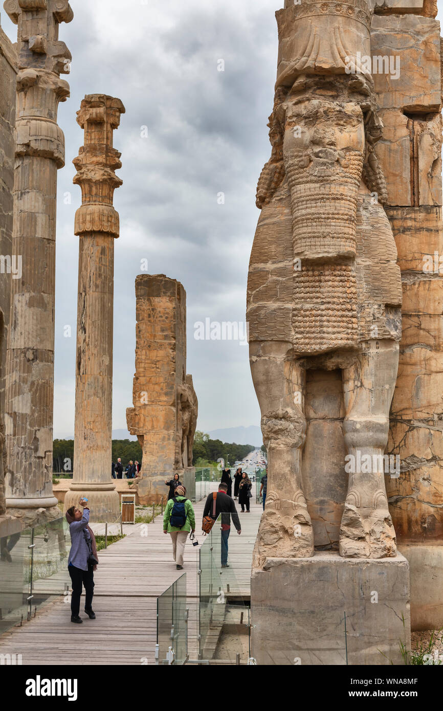 Gate Of All Nations Gate Of Xerxes Persepolis Ceremonial Capital Of Achaemenid Empire Fars Province Iran Stock Photo 271289663 Alamy