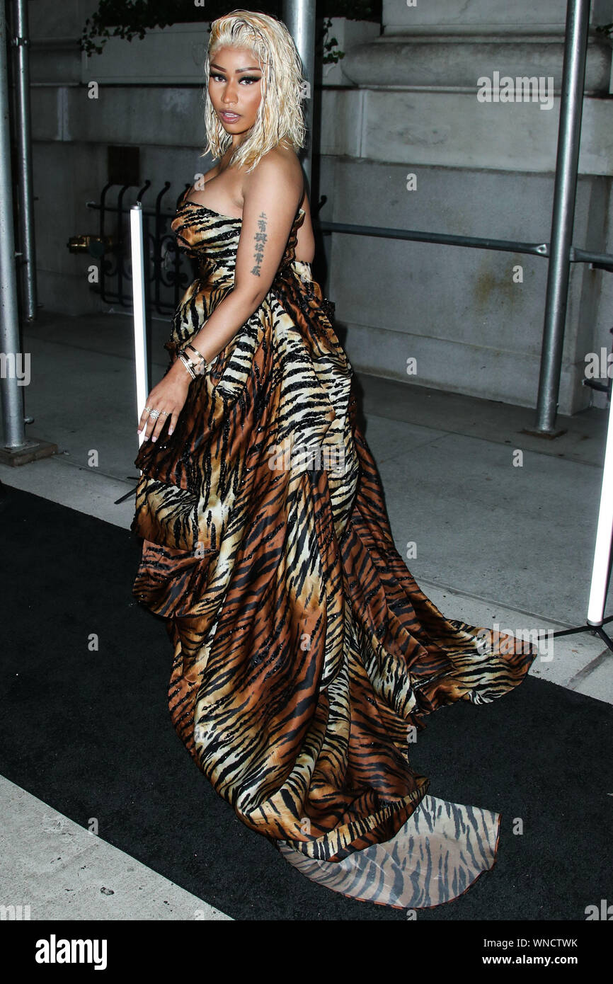 New York City, United States. 07th Sep, 2018. (FILE) Nicki Minaj Announces Retirement On Twitter. MANHATTAN, NEW YORK CITY, NY, USA - SEPTEMBER 07: Rapper Nicki Minaj wearing Alexandre Vauthier arrives at the Harper's BAZAAR Celebration of 'ICONS By Carine Roitfeld' held at The Plaza Hotel on September 7, 2018 in Manhattan, New York City, New York, United States. (Photo by Xavier Collin/Image Press Agency) Credit: Image Press Agency/Alamy Live News Stock Photo