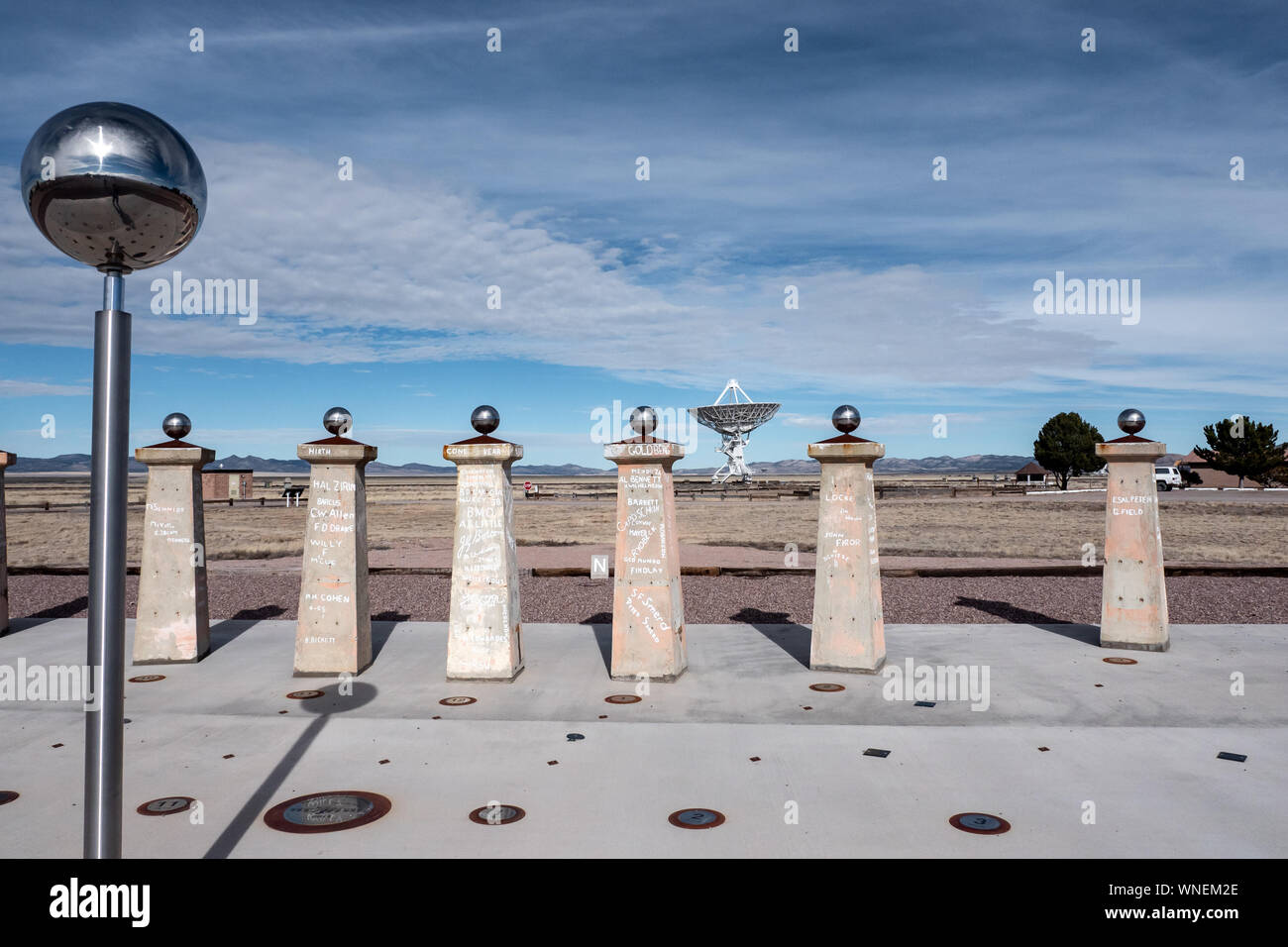 Very Large Array (VLA) in New Mexico Stock Photo