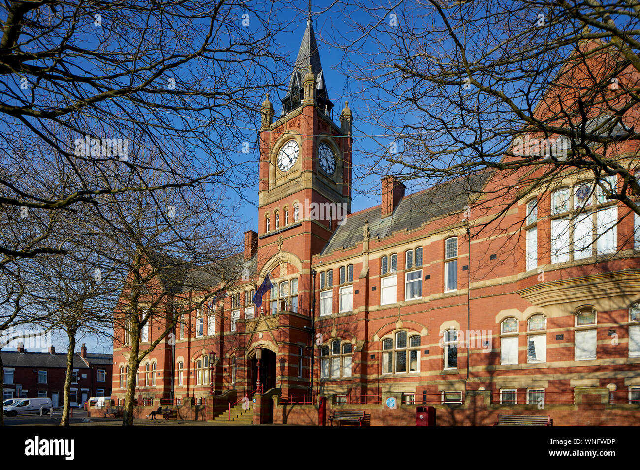 Tameside Dukinfield Town Hall on King Street Stock Photo