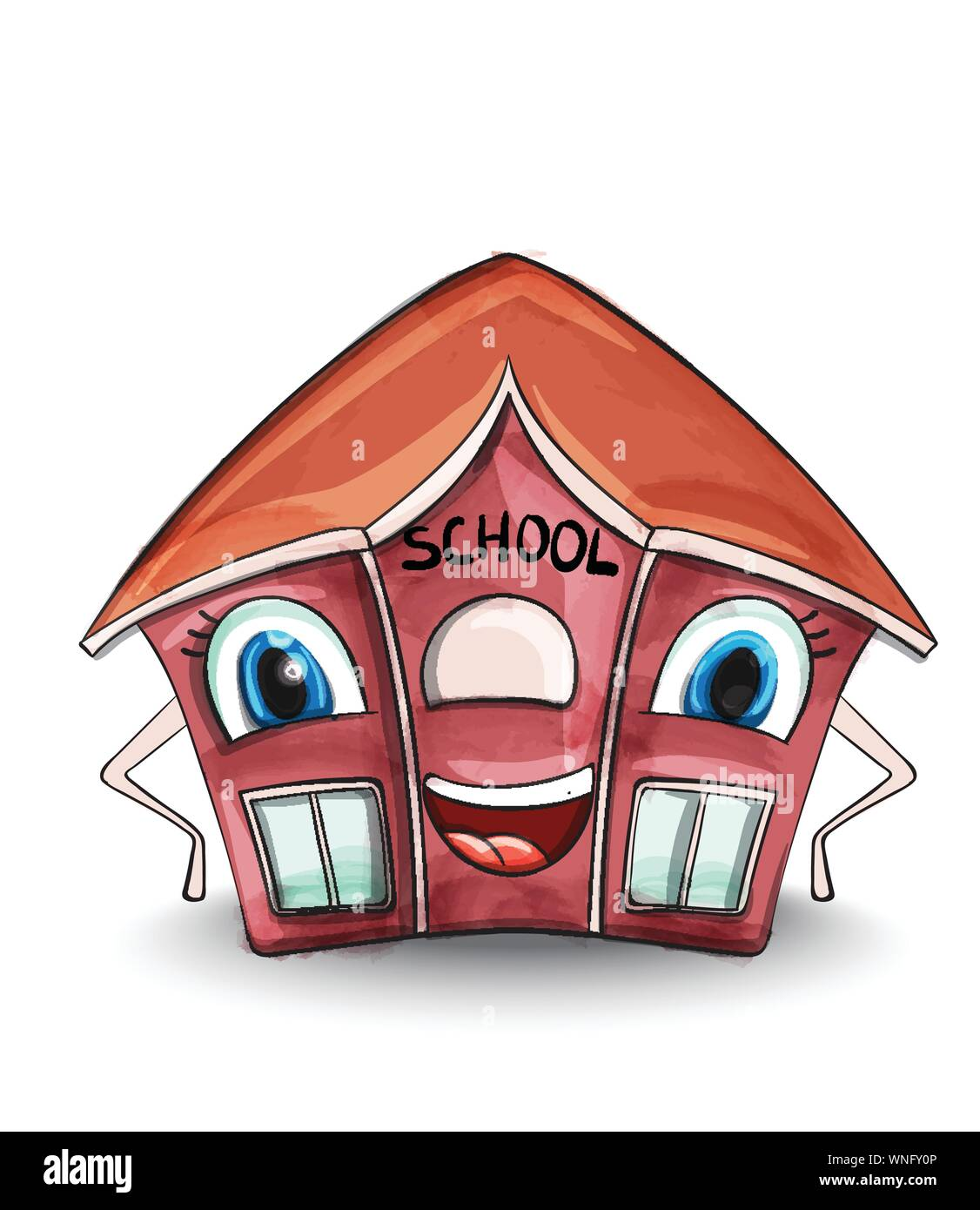 Cartoon School House | Red school house, Homeschool, School clipart