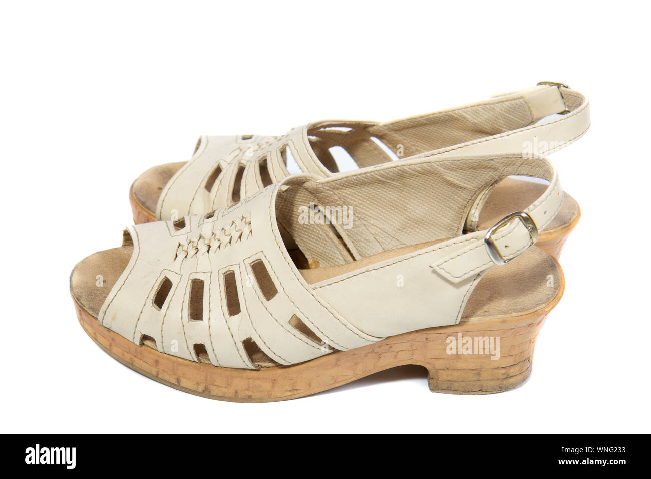 Old Womens Shoes High Resolution Stock