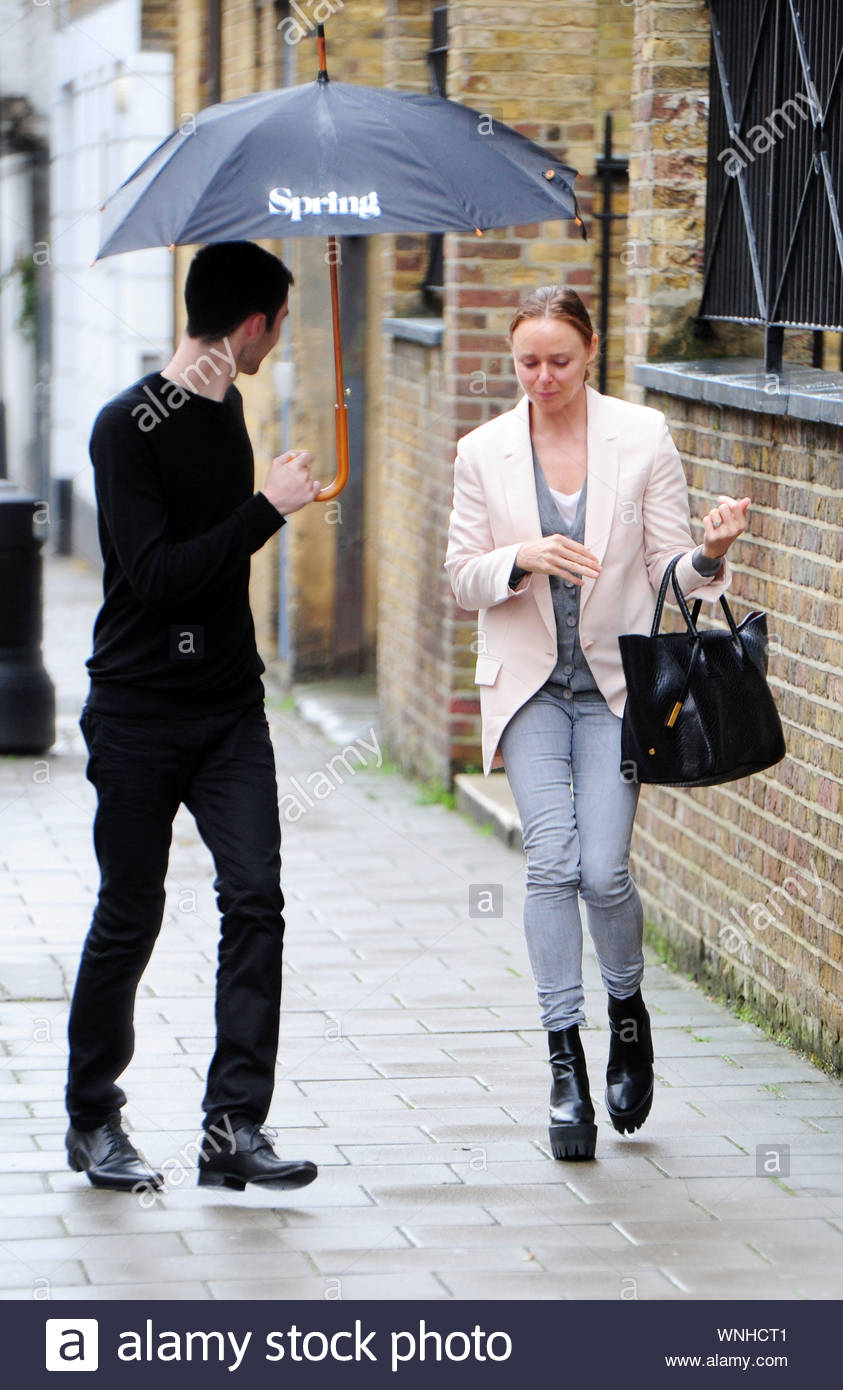 London Uk British Fashion Designer Stella Mccartney Was Spotted Wearing A Dramatic Pair Of Platform Boots