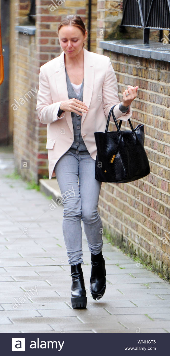 London Uk British Fashion Designer Stella Mccartney Was Spotted Wearing A Dramatic Pair Of Platform Boots When She Was Seen Out In Central London Walking Gingerly Through Mayfair The Daughter Of