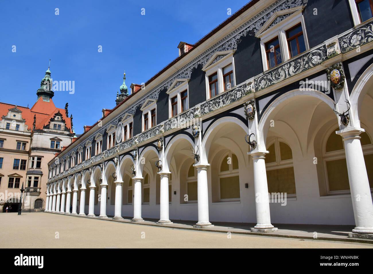 Dresden Castle or Royal Palace, Dresdner Residenzschloss or Dresdner Schloss, Dresden, Germany, Europe Stock Photo