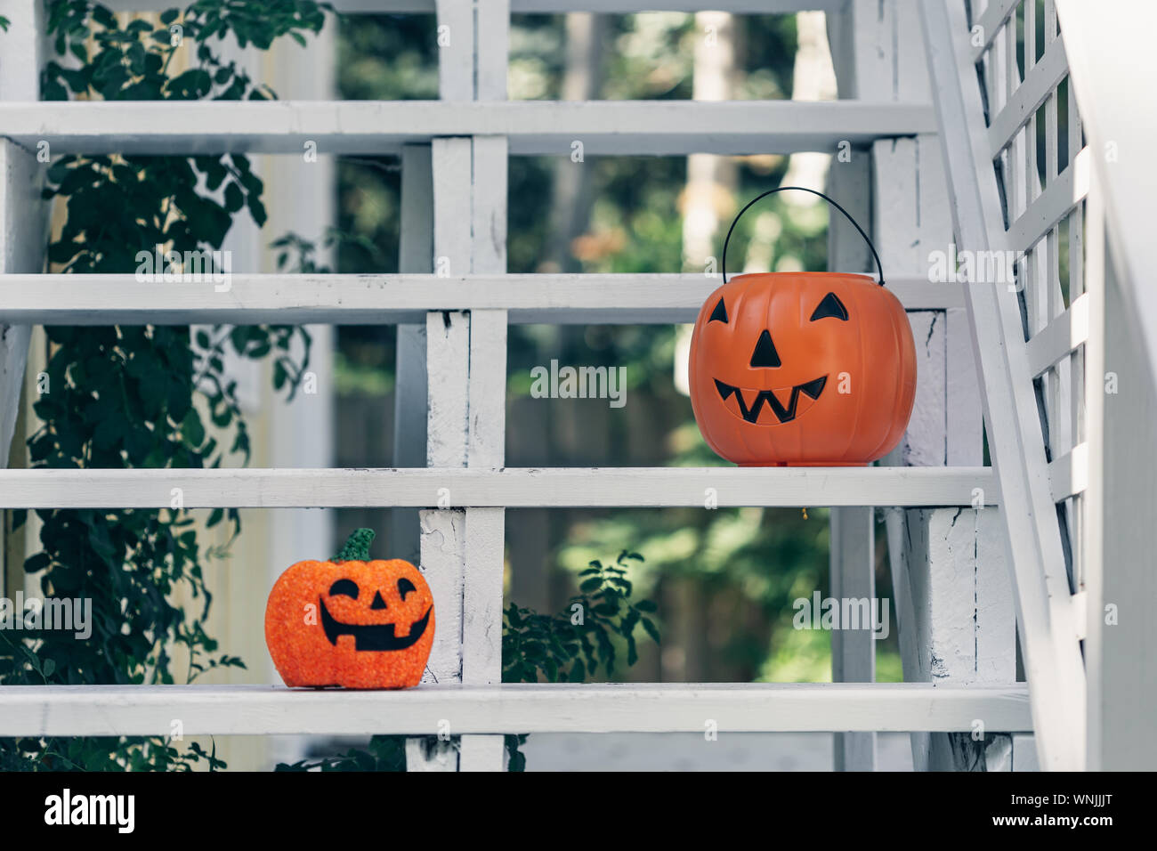 Vintage old fashioned retro Halloween outdoor decorations