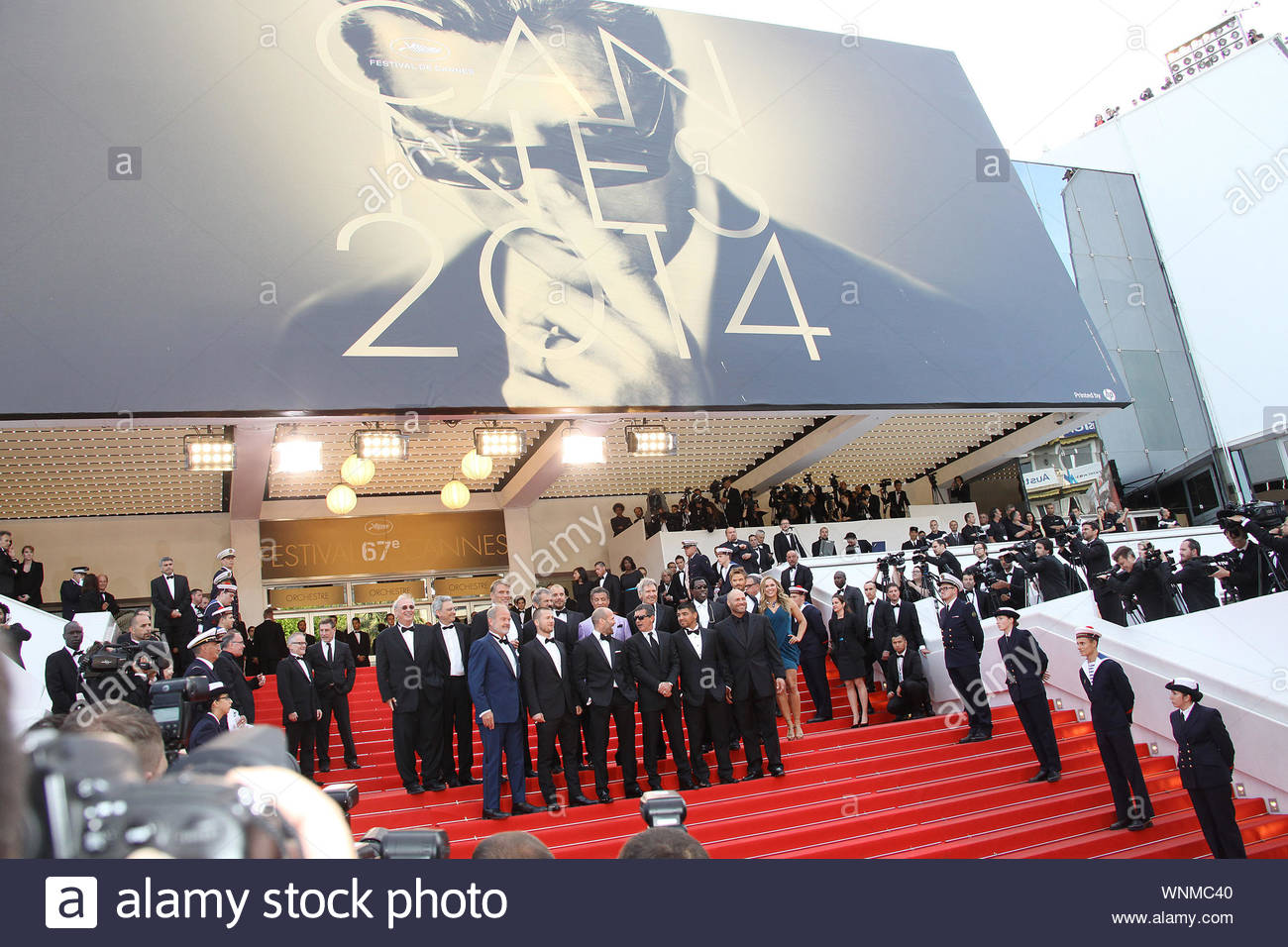 Cannes, France - The cast of 'Expendables 3' at the 'The Homesman' premiere during the 67th Annual Cannes Film Festival. AKM-GSI May 18, 2014 Stock Photo