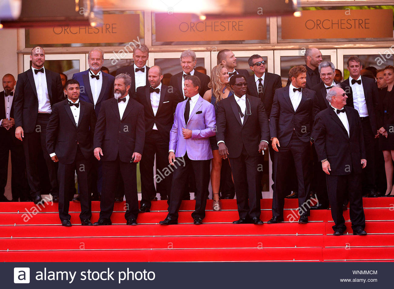 "Cannes, France - The cast of ""Expendables 3"" at the ""The Homesman"" premiere during the 67th Annual Cannes Film Festival. AKM-GSI May 18, 2014 Stock Photo"
