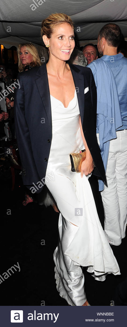 Cannes, France - Heidi Klum at Roberto Cavalli's annual yacht party at Cannes Harbor during the 67th Annual Cannes Film Festival in Cannes, France. AKM-GSI May 21, 2014 Stock Photo