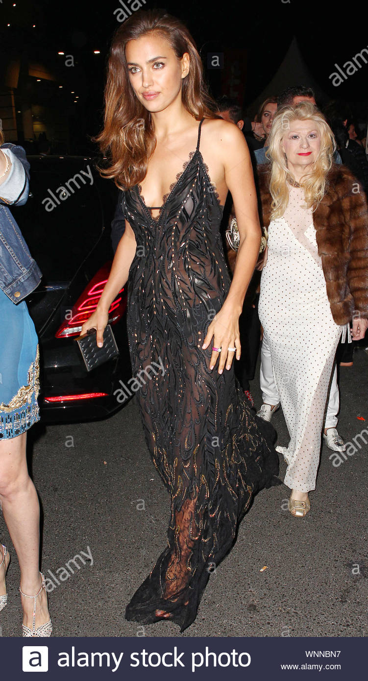 Cannes, France - Claudia Galanti at Roberto Cavalli's annual yacht party at Cannes Harbor during the 67th Annual Cannes Film Festival in Cannes, France. AKM-GSI May 21, 2014 Stock Photo