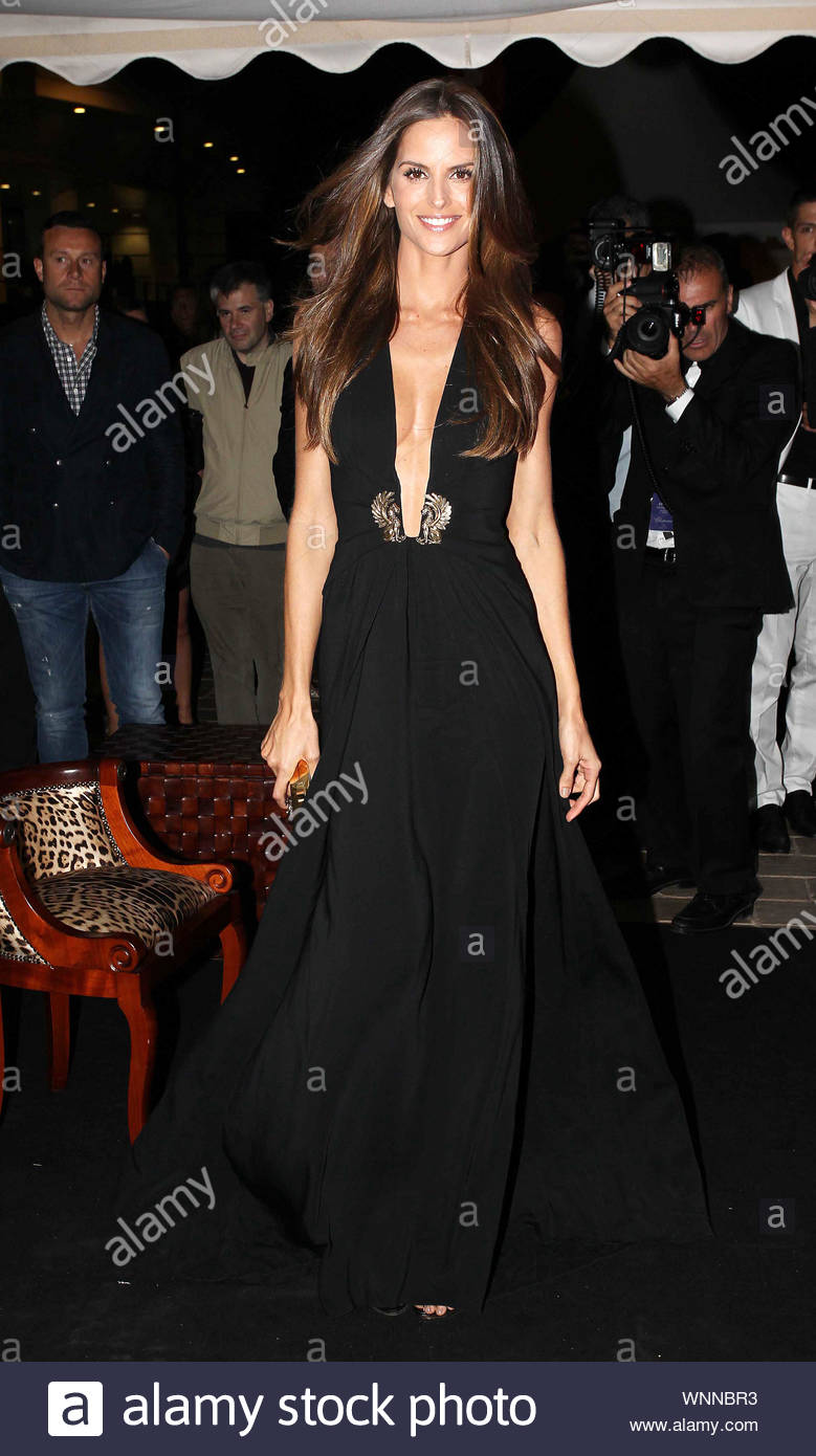 Cannes, France - Izabel Goulart at Roberto Cavalli's annual yacht party at Cannes Harbor during the 67th Annual Cannes Film Festival in Cannes, France. AKM-GSI May 21, 2014 Stock Photo