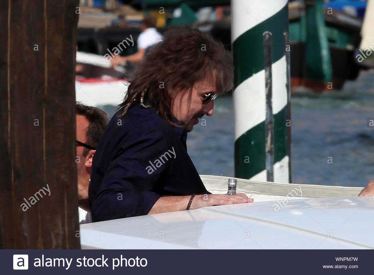Shot On 5 31 14 Venice Italy Richie Sambora Was In A Celebratory Mood As He Arrived In Venice With Friends The Bon Jovi Guitarist Took Swigs From What Appeared To Be A