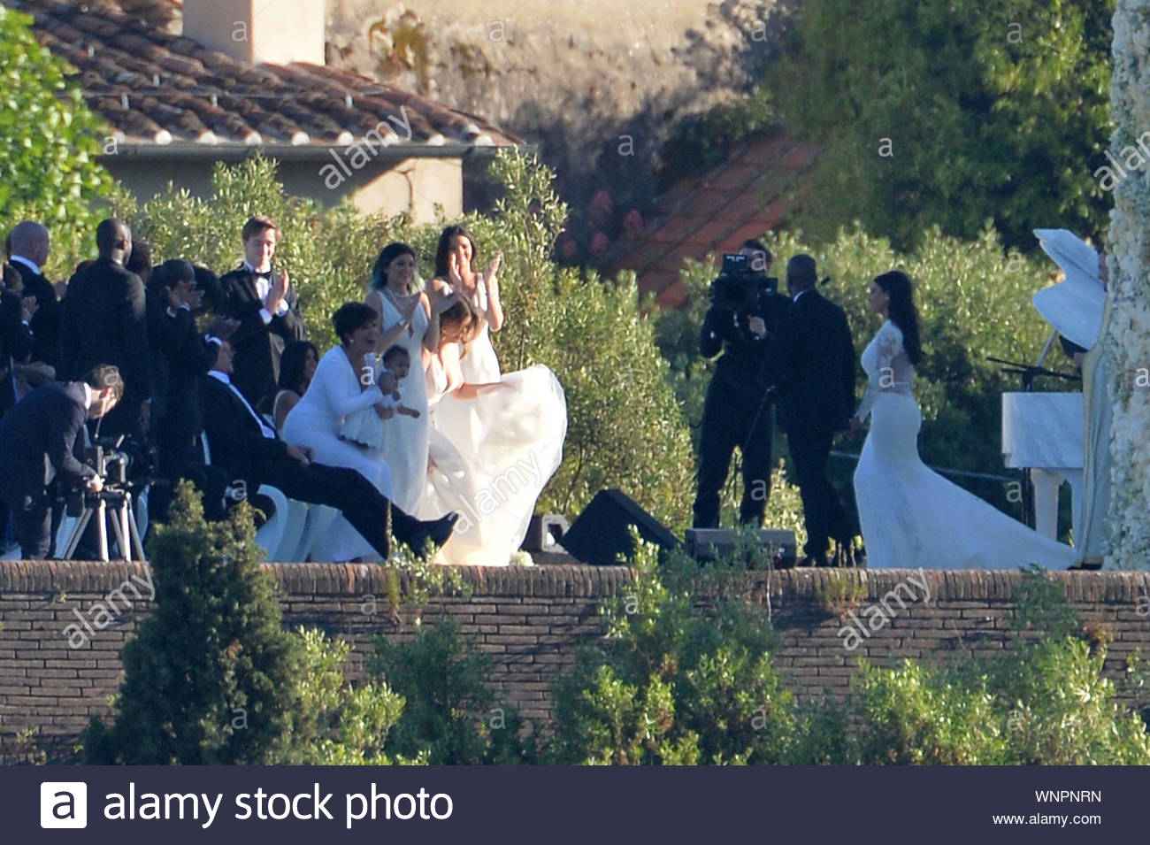Florence Italy Shot On May 24 2014 Kim Kardashian And Kanye West Tied The Knot Today In A Lavish Wedding At Florence S Forte Di Belvedere The Beautiful Bride Was Walked