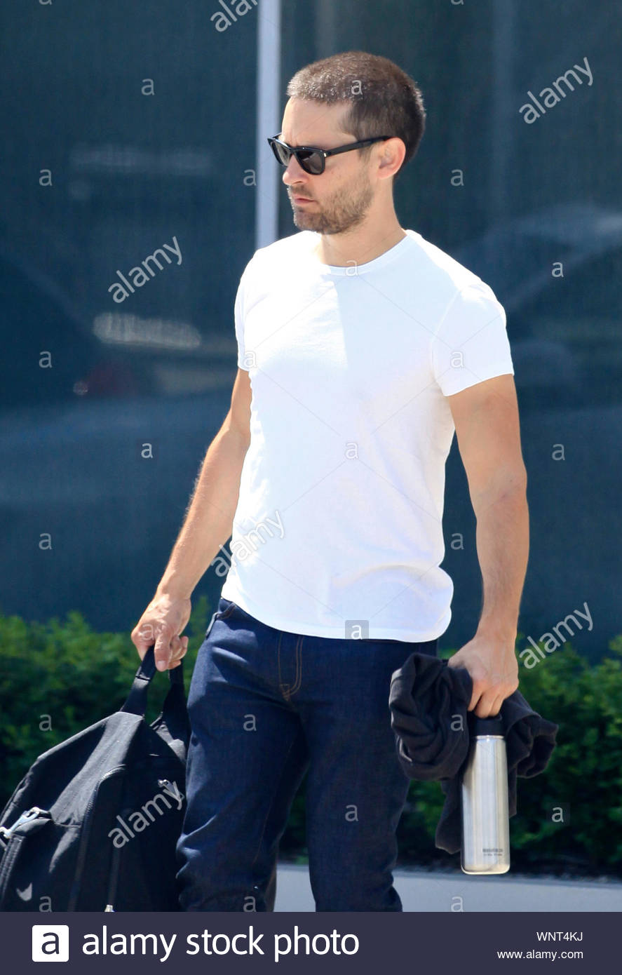 West Hollywood Ca Tobey Maguire Looks As If He S Not In The Mood For Anything As He Makes His Way Back To His Vehicle The Former Spider Man Actor Is A Regular