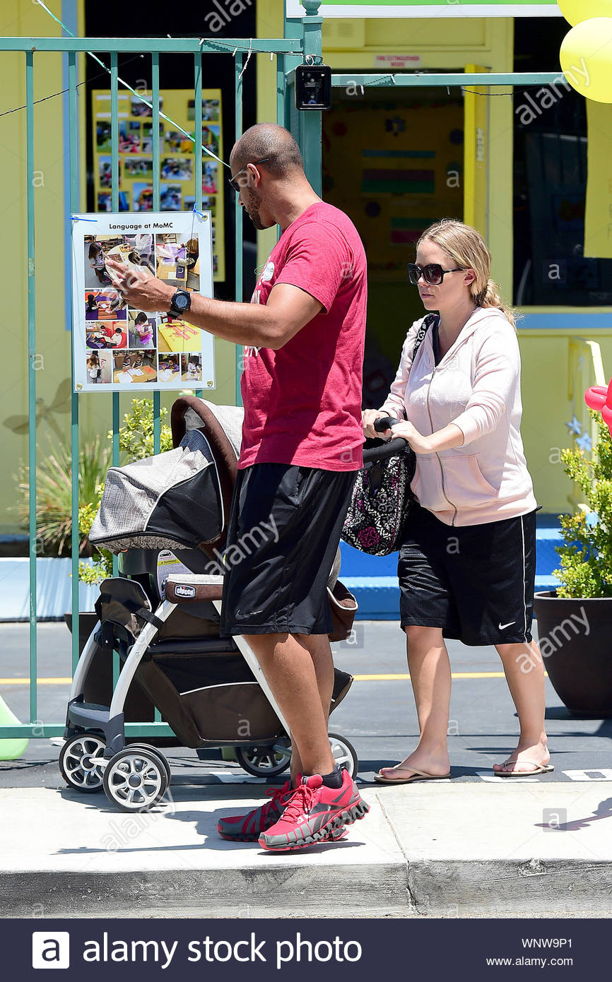 Woodland Hills Ca Kendra Wilkinson And Her Husband Hank Baskett Step Out With Their Son Hank Iv And Their Newborn Daughter Alijah After A Story Has Hit The Headlines That Kendra