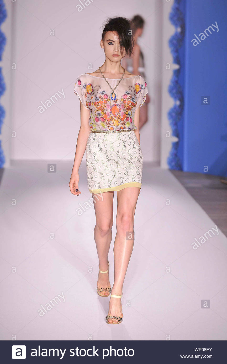 Milan Italy Italian Fashion Designer Paola Frani Shows Off His New Spring Summer 2013 Fashion Collection At Milan Fashion Week In Italy Akm Gsi September 19 2012 Stock Photo 271684643 Alamy