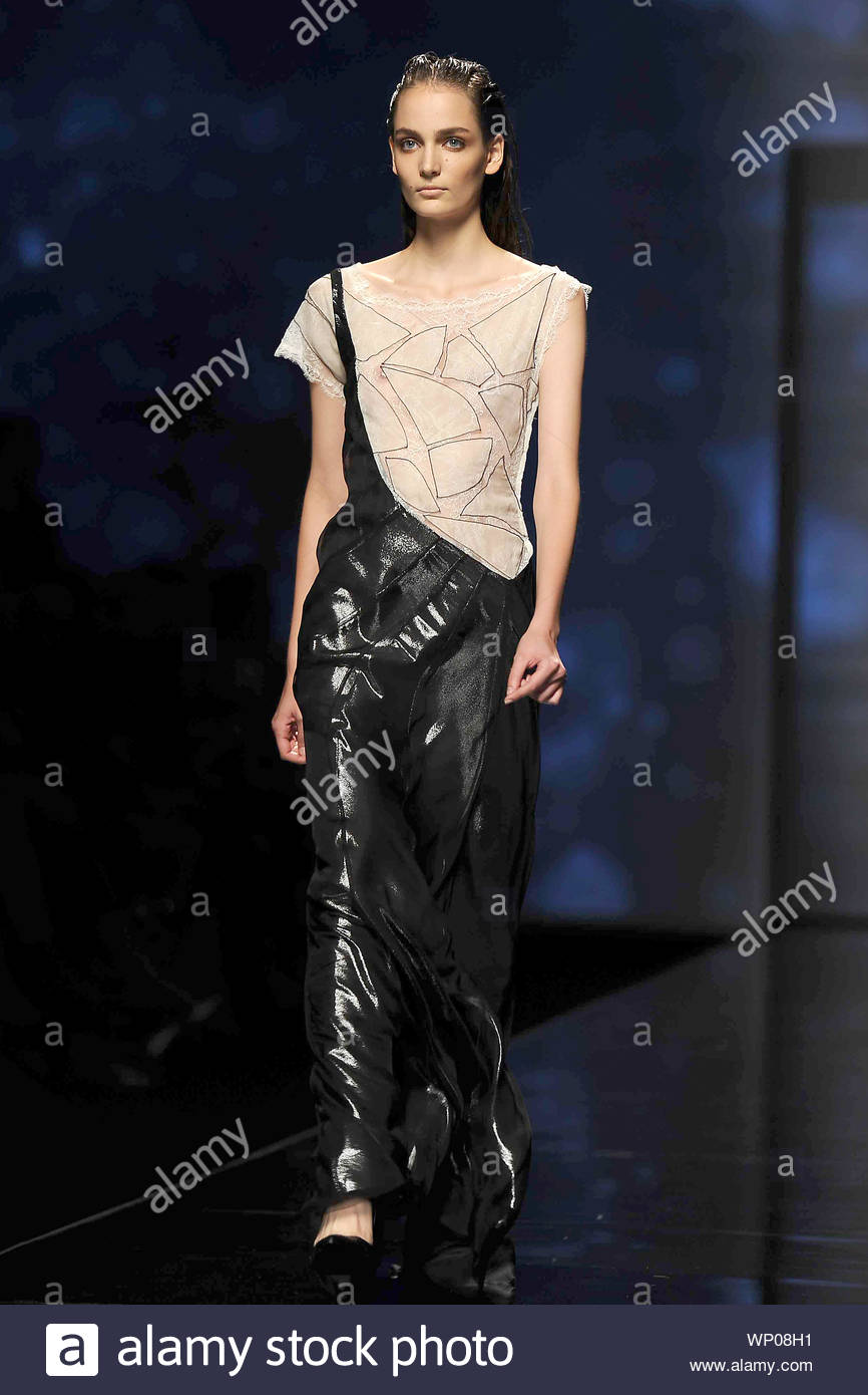 Milan Italy Italian Fashion Designer Alberta Ferretti Shows Off Her Spring Summer 2013 Collection From Milan Fashion Week In Italy Akm Gsi September 19 2012 Stock Photo Alamy