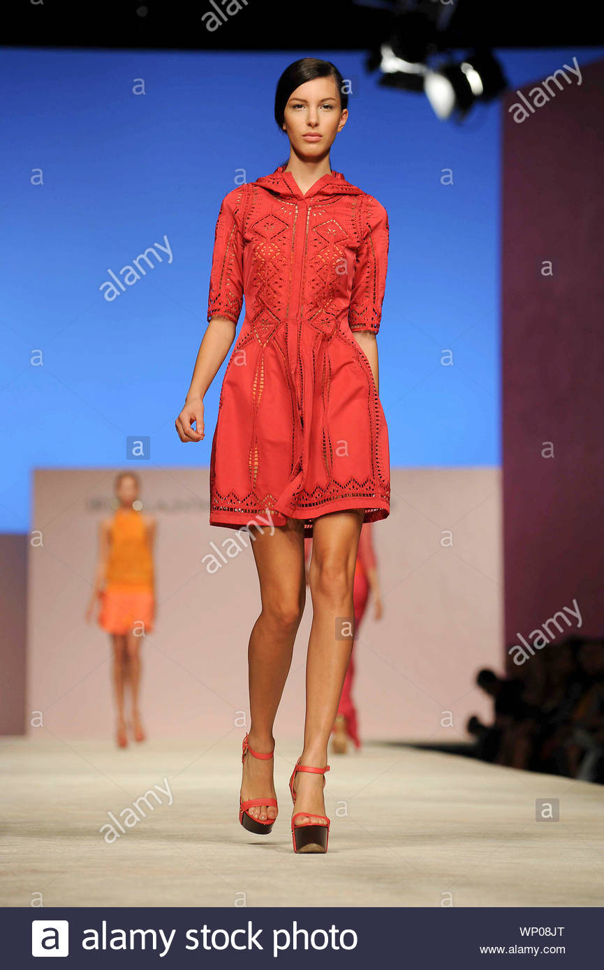 Milan Italy Italian Fashion Designer Ermanno Scervino Shows Off His New Spring Summer 2013 Fashion Collection At Milan Fashion Week In Italy Akm Gsi September 20 2012 Stock Photo Alamy