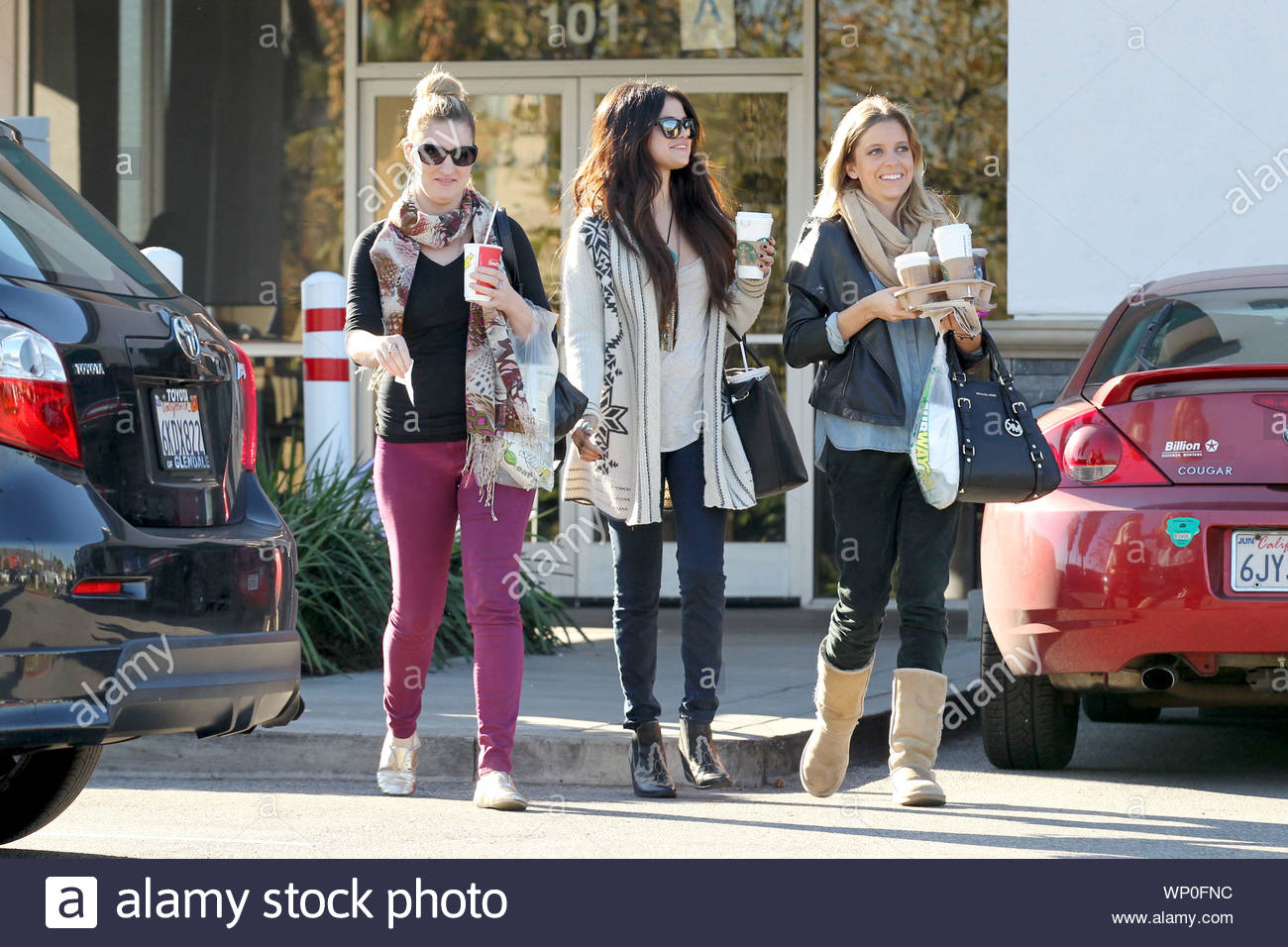 burbank ca after selena gomez grabbed some lunch from mcdonalds earlier today she made her way alamy