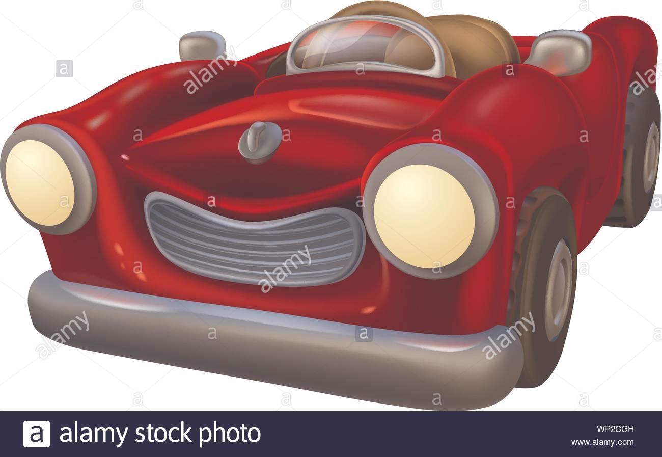 Cartoon Convertible Car Stock Vector Image Art Alamy