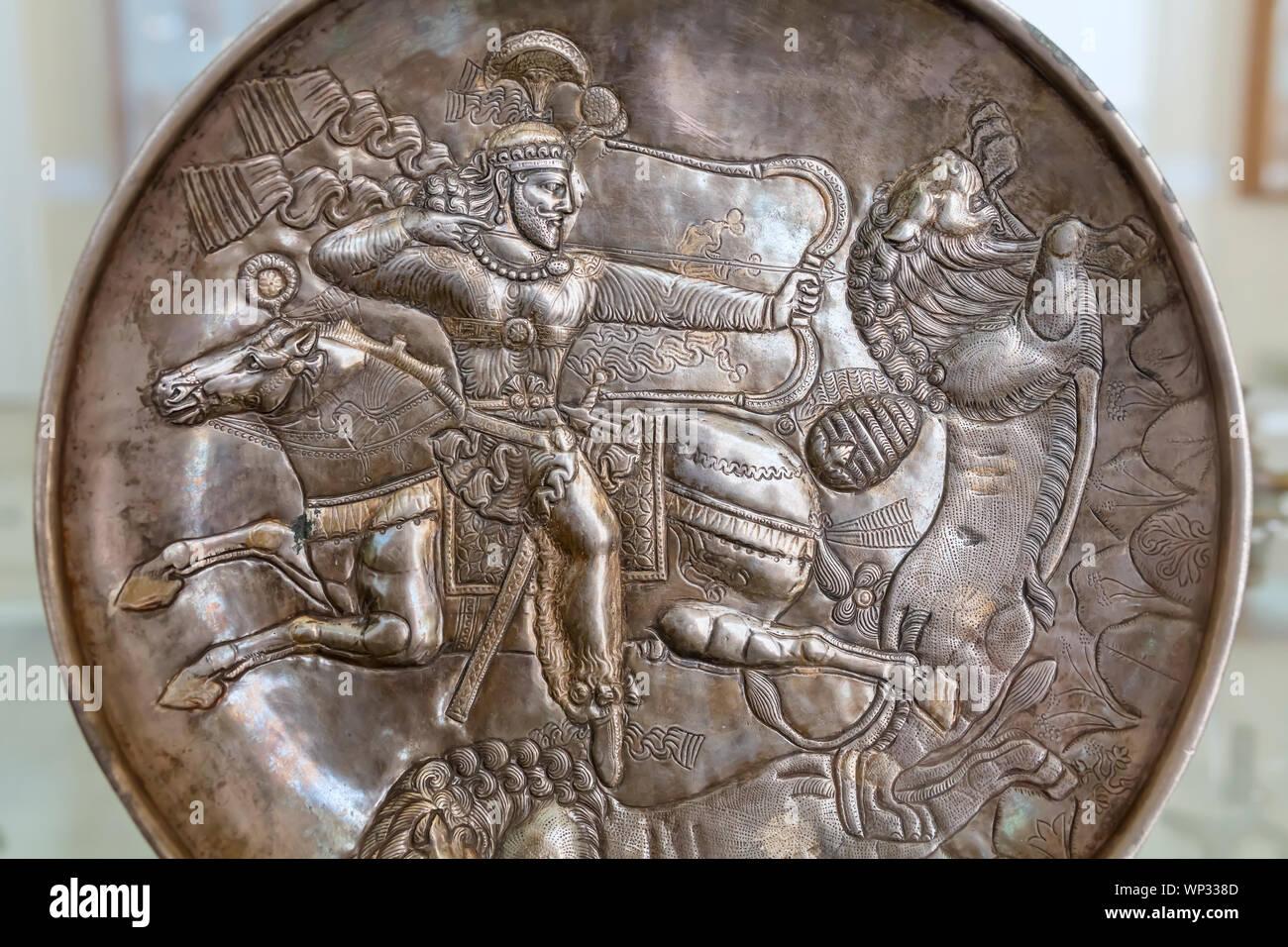 Sasanian Silver Plate Mazandaran Museum Of Ancient Iran National Museum Of Iran Tehran Iran Stock Photo Alamy