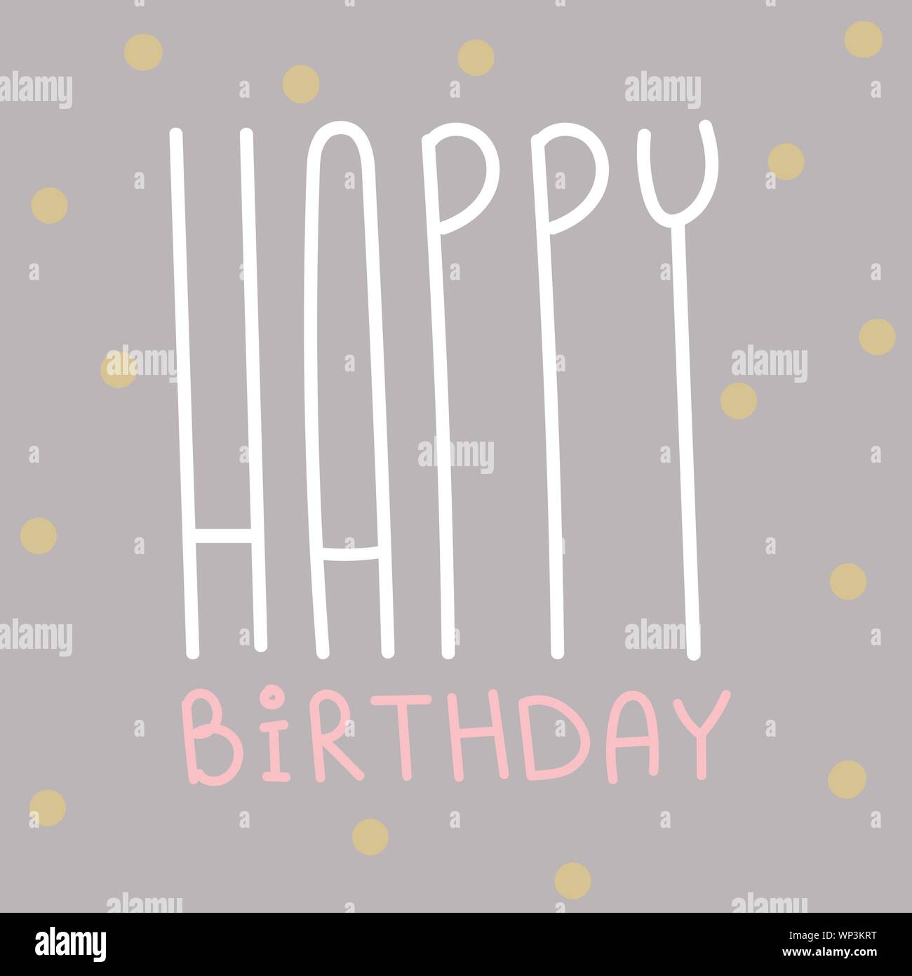 Happy Birthday Greeting Card Celebration Postcard Template