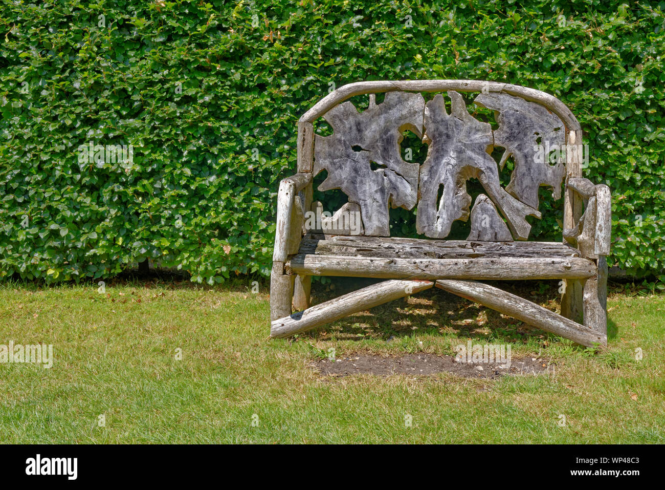 Fine Ornate Rustic Wooden Garden Bench Seat Made From Recycled Machost Co Dining Chair Design Ideas Machostcouk