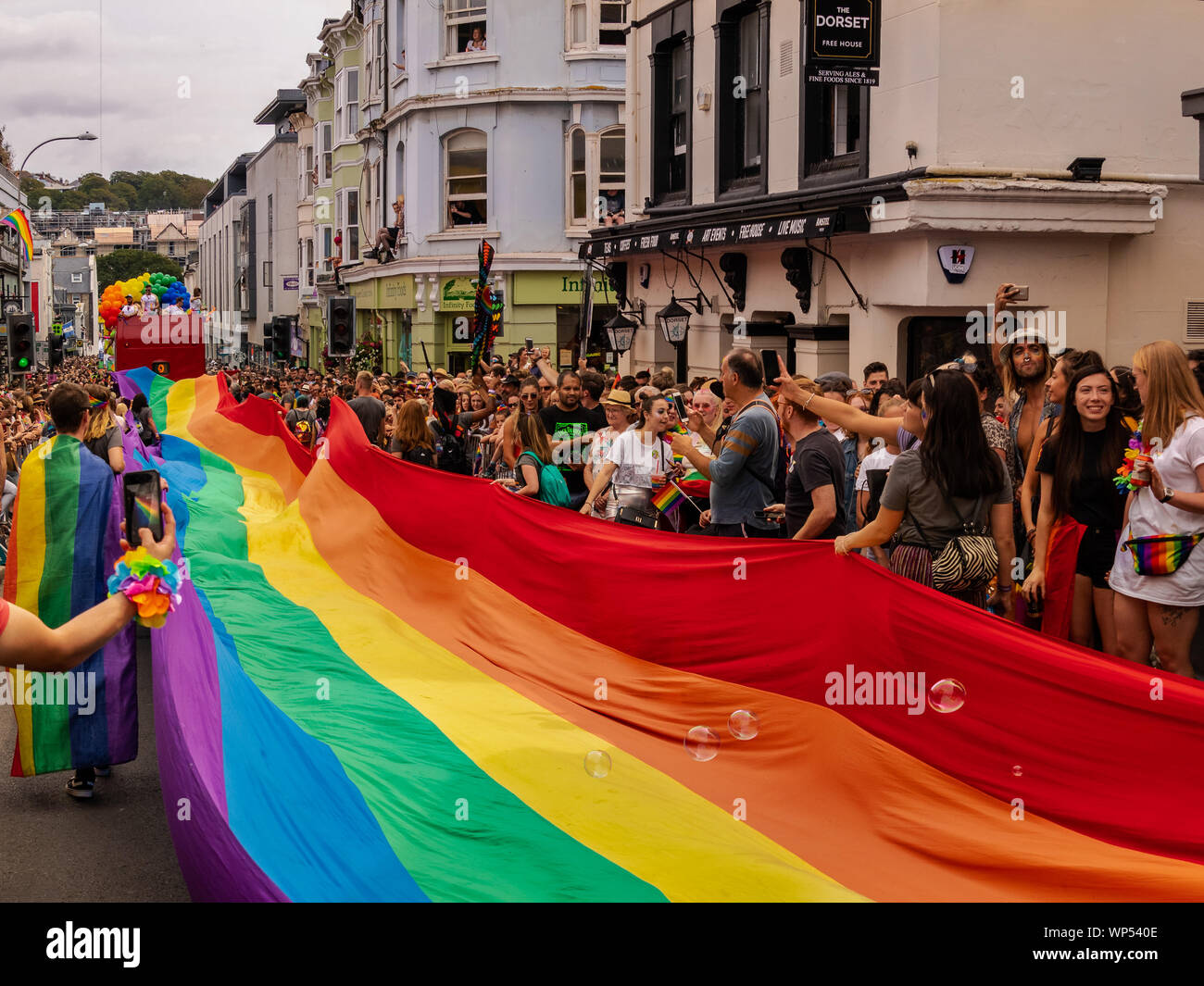 Capture the flag at Pride Stock Photo