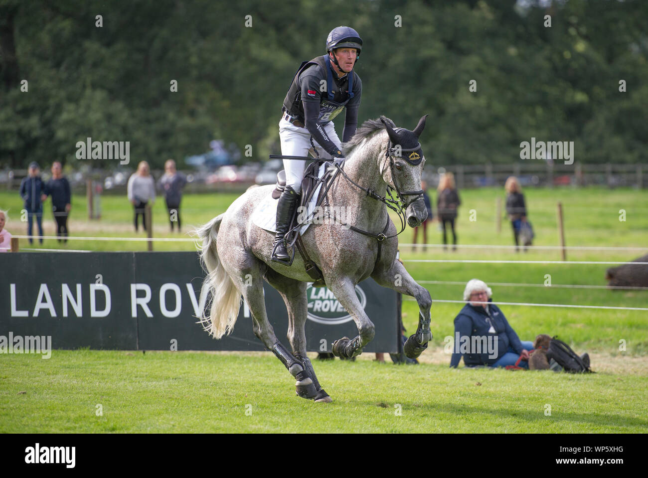 Stamford, UK, Saturday 7th September, 2019. Oliver Townend (GBR) riding Ballaghmor Class during the Land Rover Burghley Horse Trials,  Cross Country phase. © Julie Priestley/Alamy Live News Stock Photo