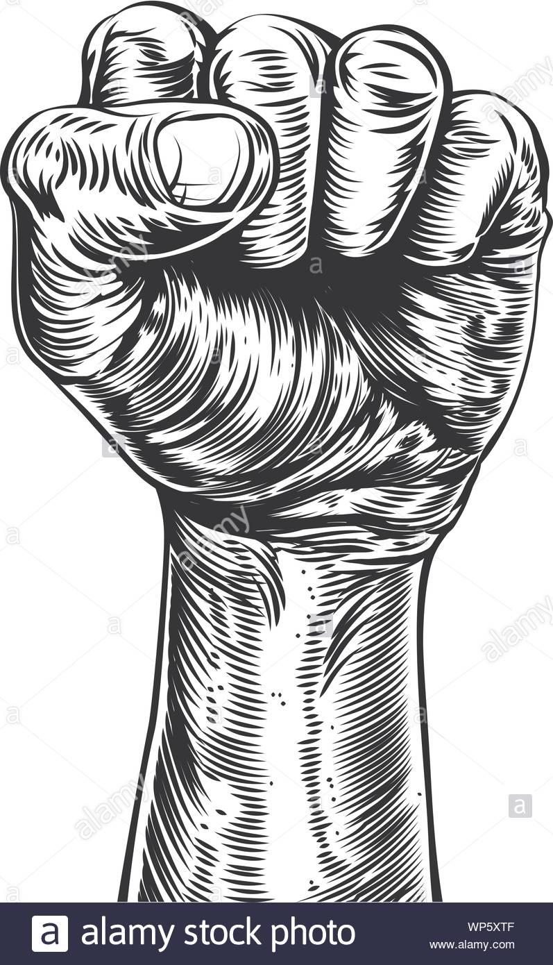 Fist Illustration Stock Vector