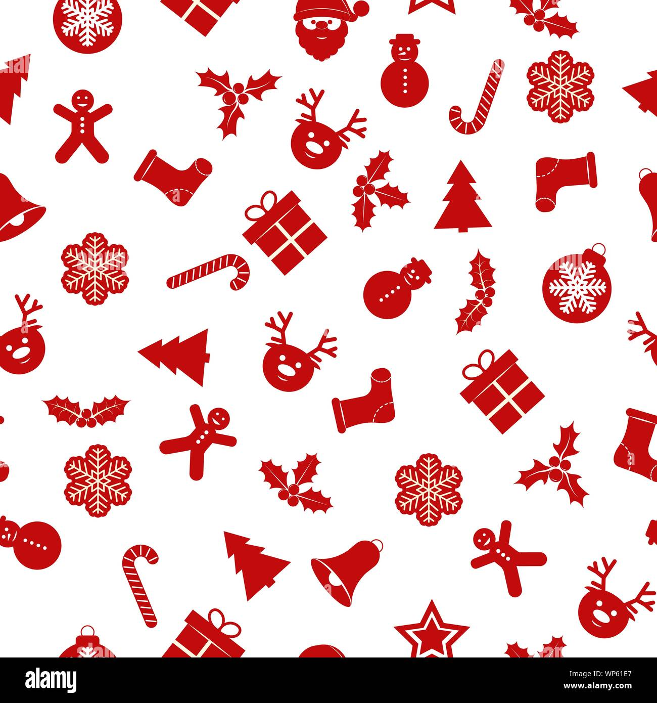 Festive New Year Seamless Background With Christmas Decorations Suitable For Textile Packaging Paper Printing Simple Backgrounds And Texture Stock Vector Image Art Alamy