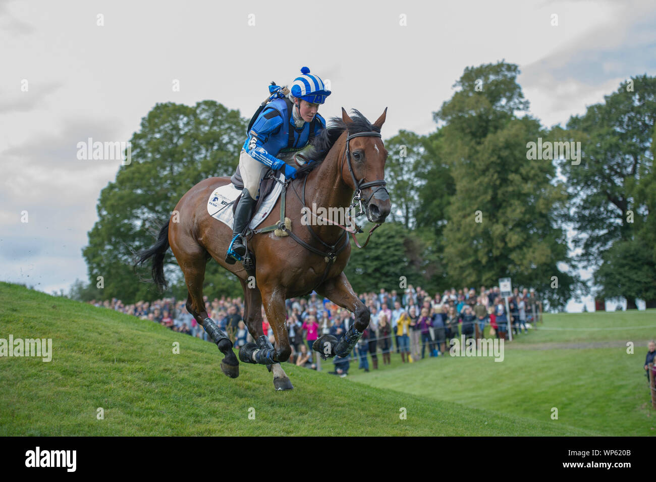 Stamford, UK, Saturday 7th September, 2019.Imogen Murray (BGR) riding Ivar Gooden during the Land Rover Burghley Horse Trials,  Cross Country phase. © Julie Priestley/Alamy Live News Stock Photo