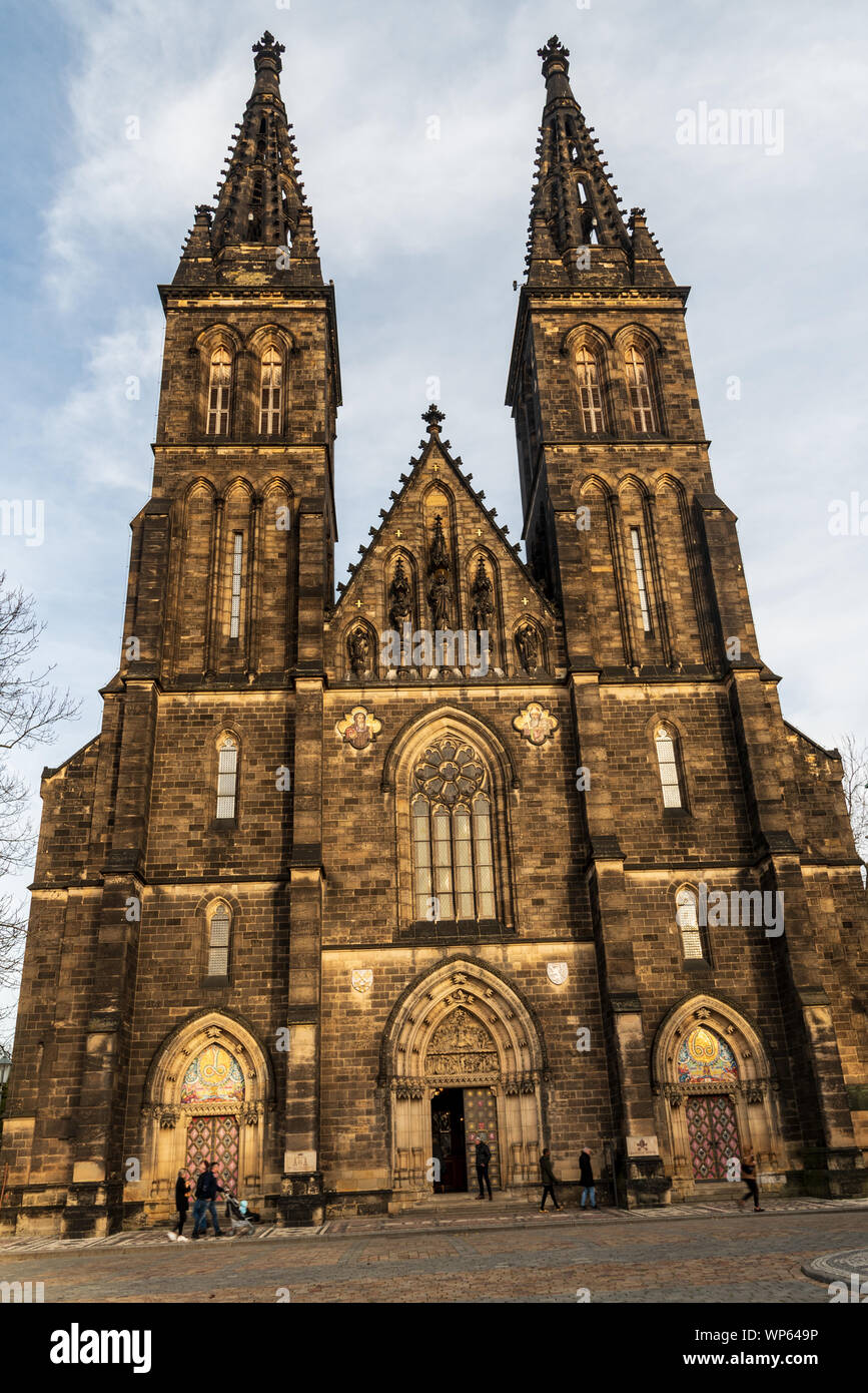 Kostel sv. Petra a Pavla built in 11th century on Vysehrad in Praha city in Czech republic Stock Photo