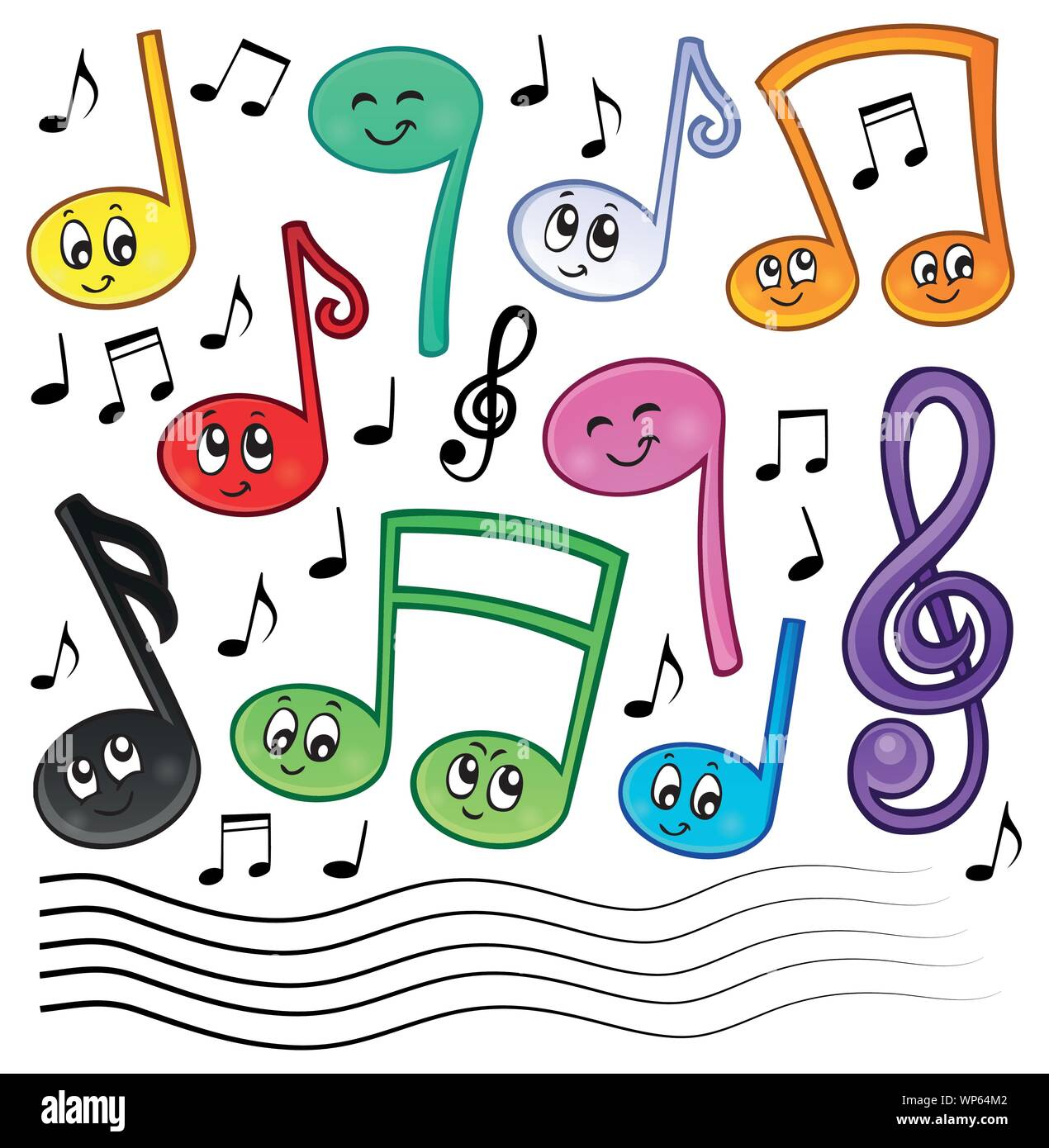 Music Musical Colour Illustration Drawing High Resolution Stock Photography And Images Alamy