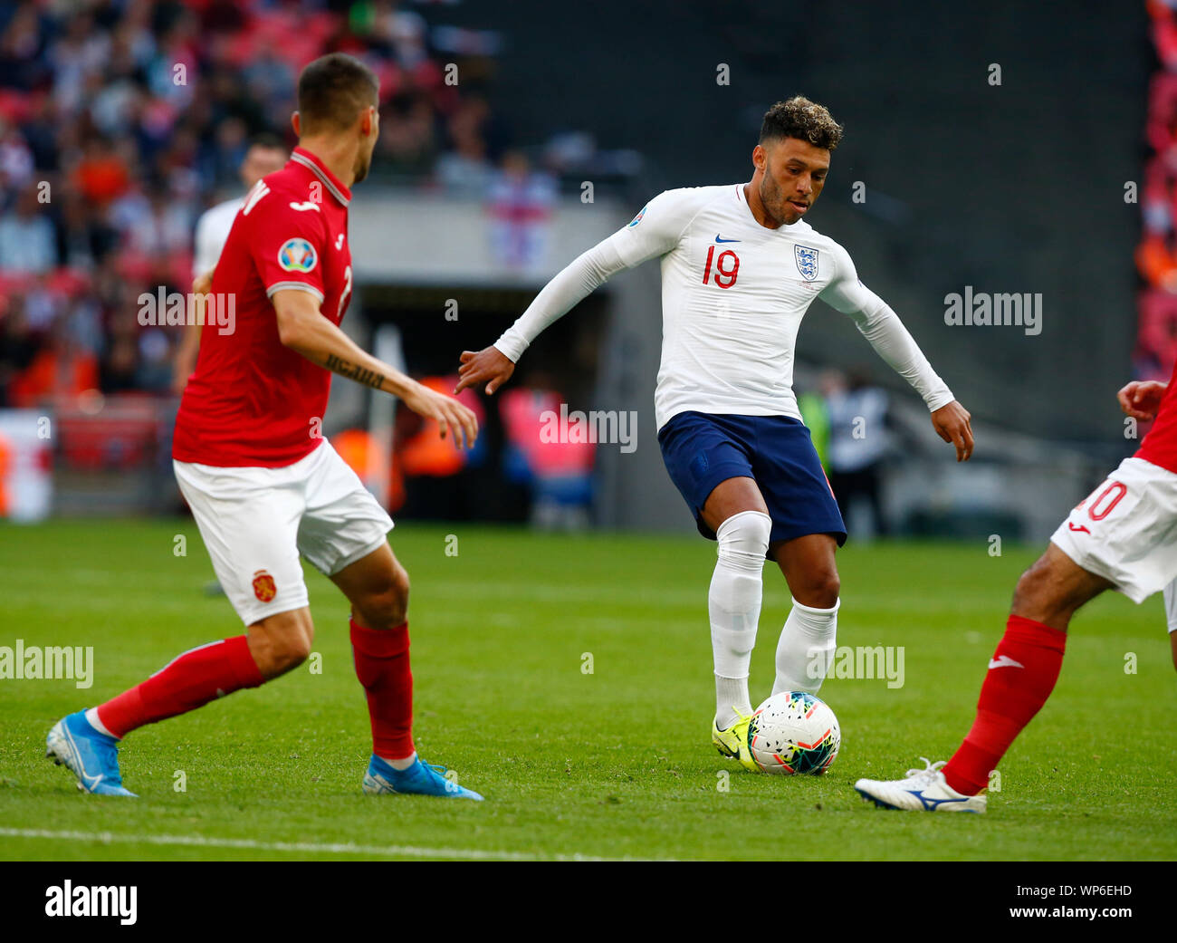 London, UK. 07th Sep, 2019. LONDON, ENGLAND. SEPTEMBER 07: Alex Oxlade-Chamberlain during UEFA Euro 2020 Qualifier between England and Bulgaria at Wembley stadium in London, England on September 07, 2019 Credit: Action Foto Sport/Alamy Live News Stock Photo