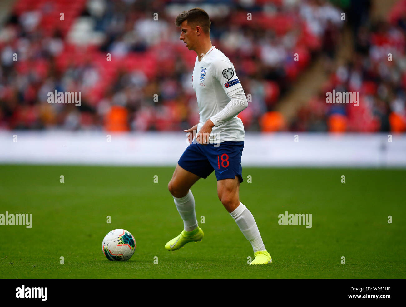 London, UK. 07th Sep, 2019. LONDON, ENGLAND. SEPTEMBER 07: Mason Mount of England during UEFA Euro 2020 Qualifier between England and Bulgaria at Wembley stadium in London, England on September 07, 2019 Credit: Action Foto Sport/Alamy Live News Stock Photo