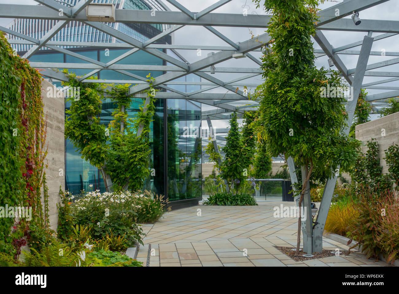Fen Court Garden,Rooftop Garden,The Garden At 120,Fenchurch Street,London,England Stock Photo - Alamy
