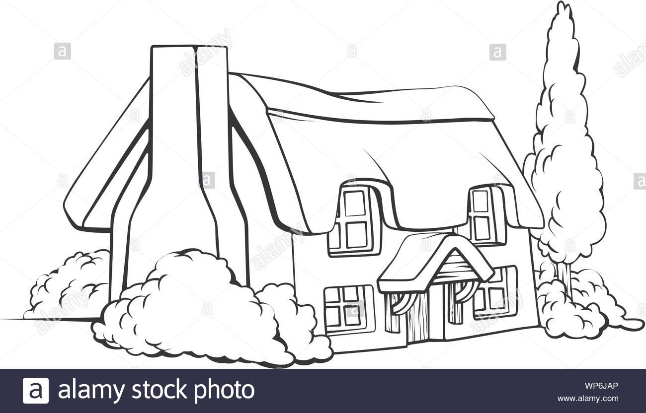 Farm house cottage Stock Vector