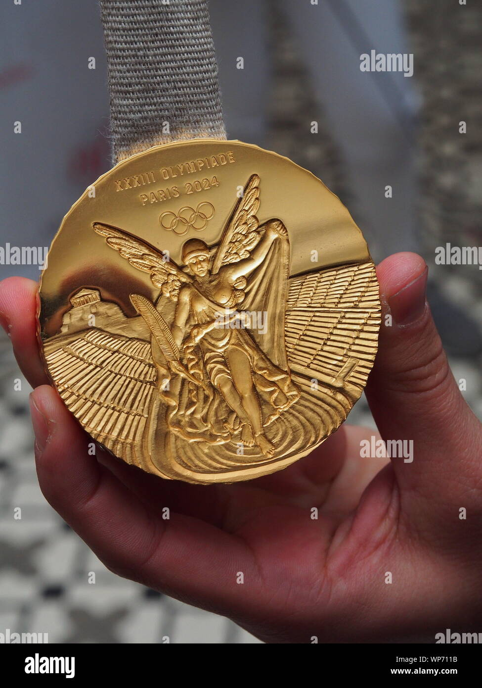 Model of the gold medals that will be used in the Olympic Games ...
