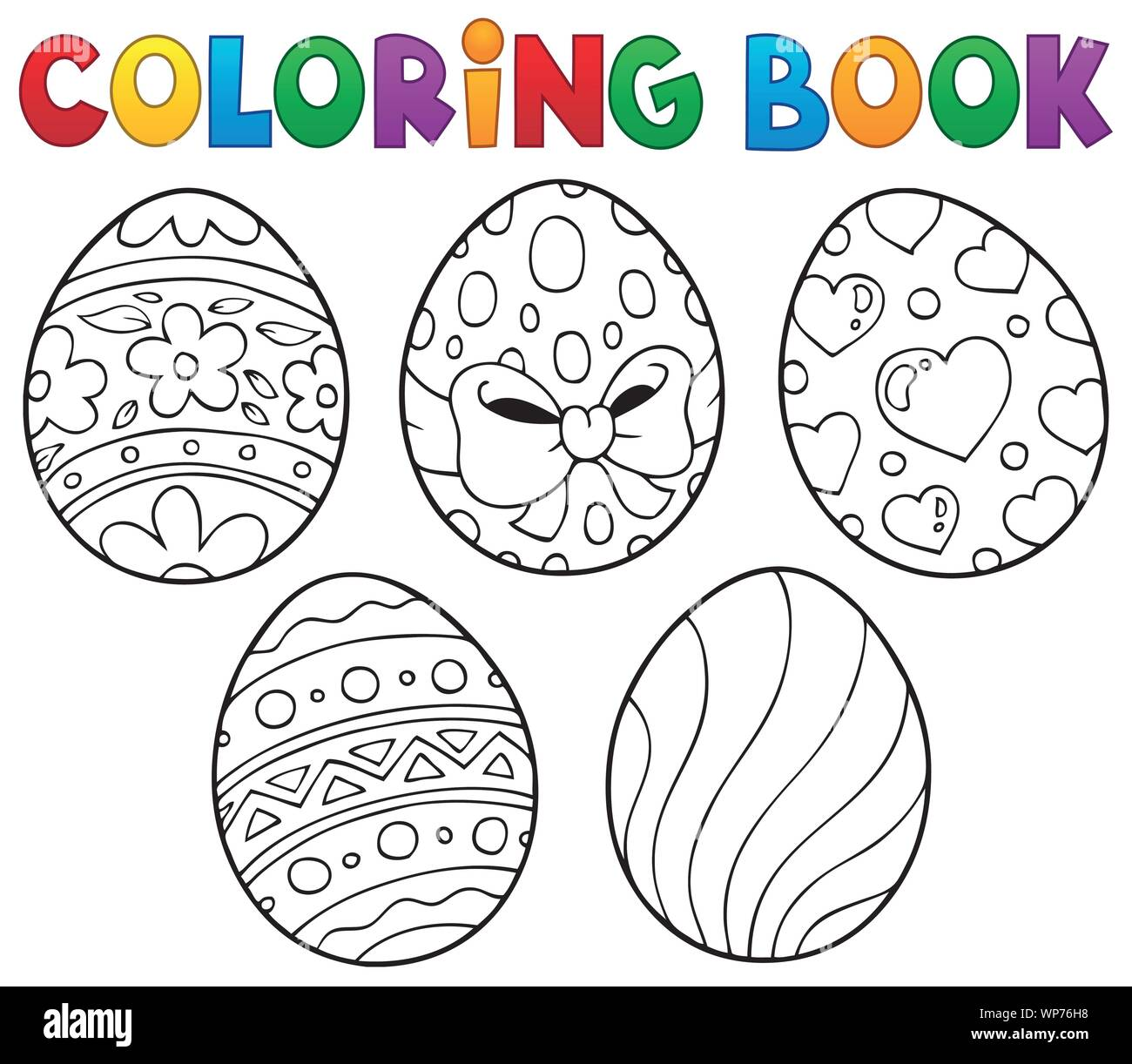 Coloring book Easter eggs theme 9 Stock Vector Image & Art - Alamy